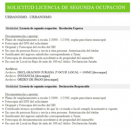 Impreso Declaración Responsable Segunda Ocupación Alaquàs - documentación 2