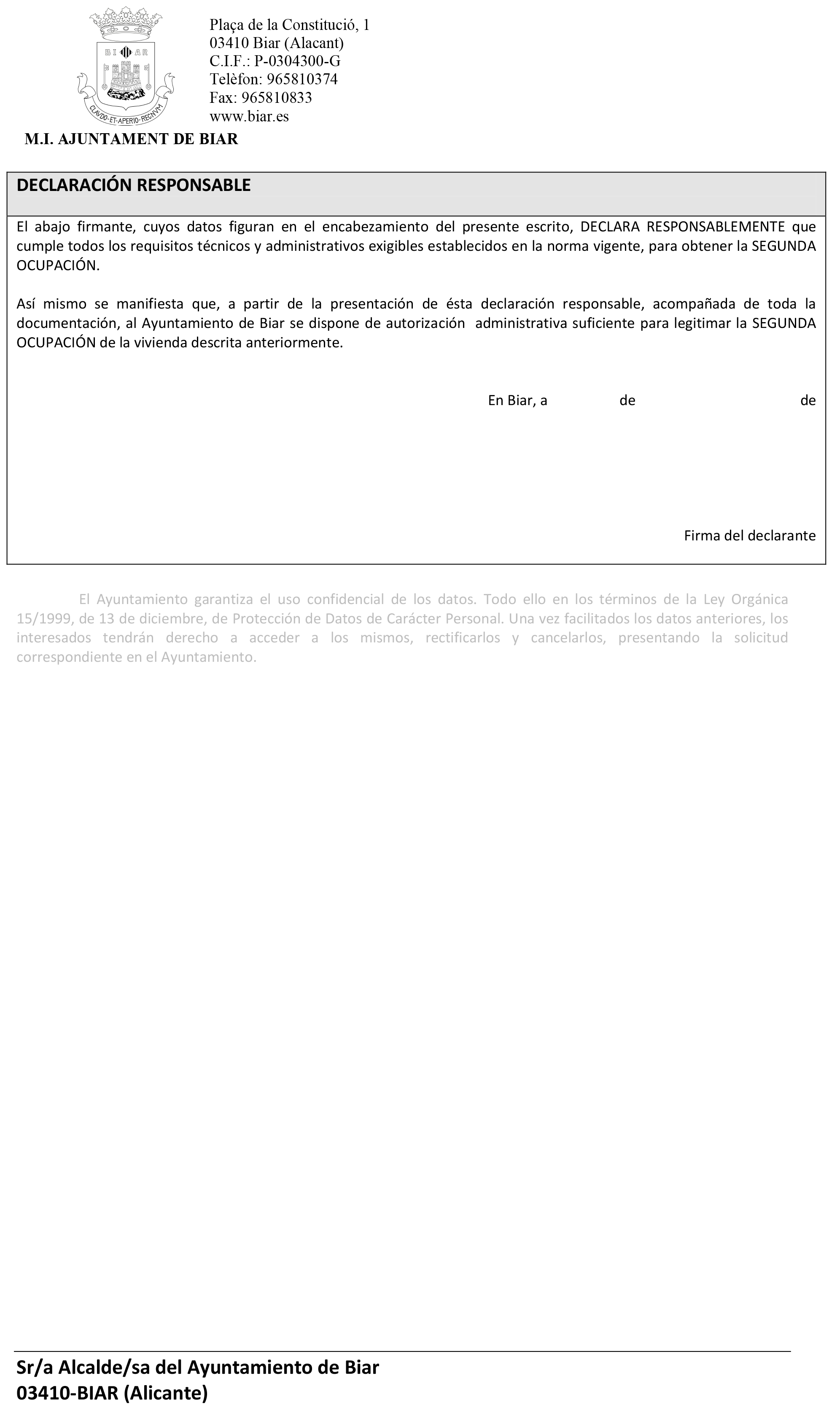 Declaracion Responsable de Segunda Ocupacion - Biar-2