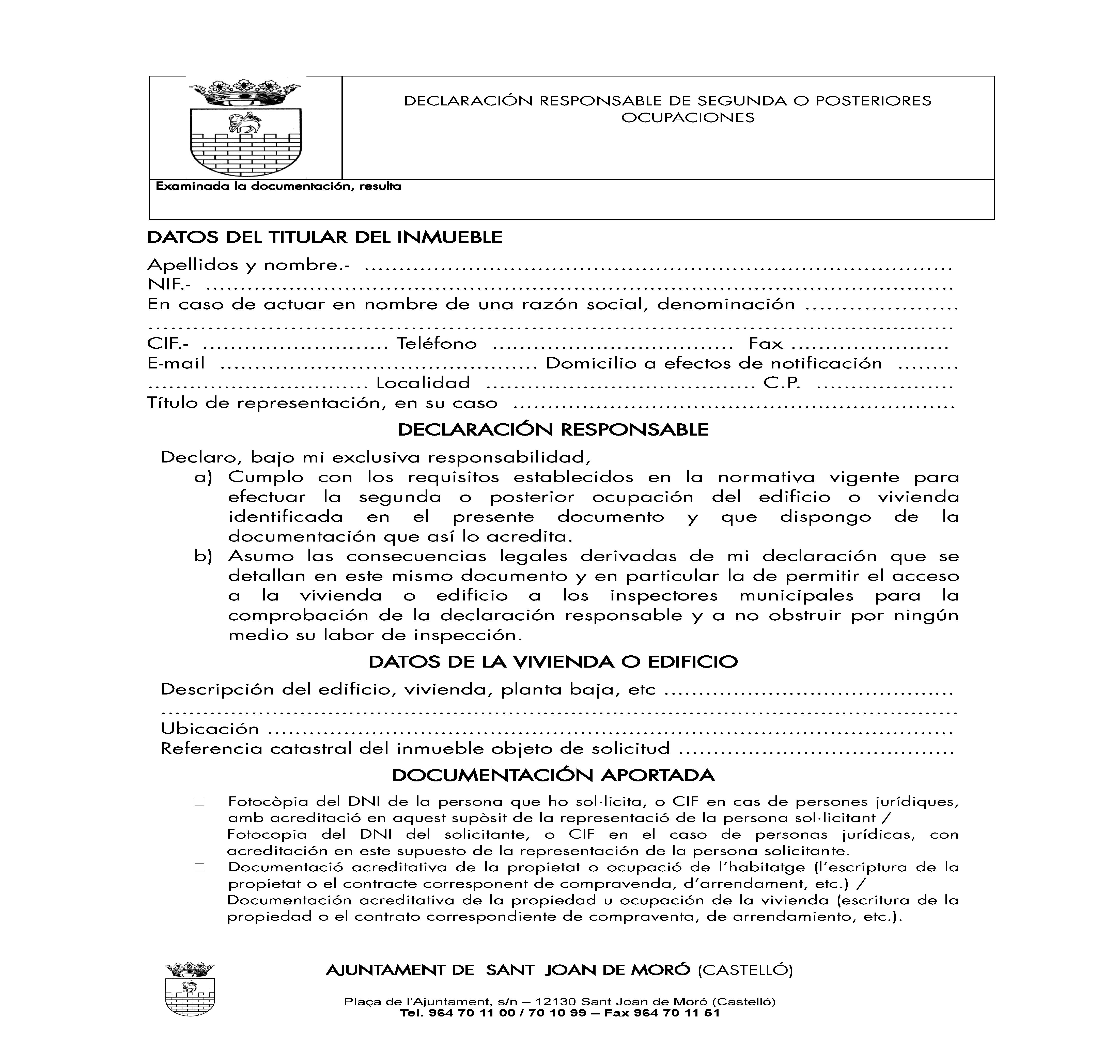 Impreso DECLARACIÓN RESPONSABLE SEGUNDA OCUPACION - San Joan de Moro_Página_1
