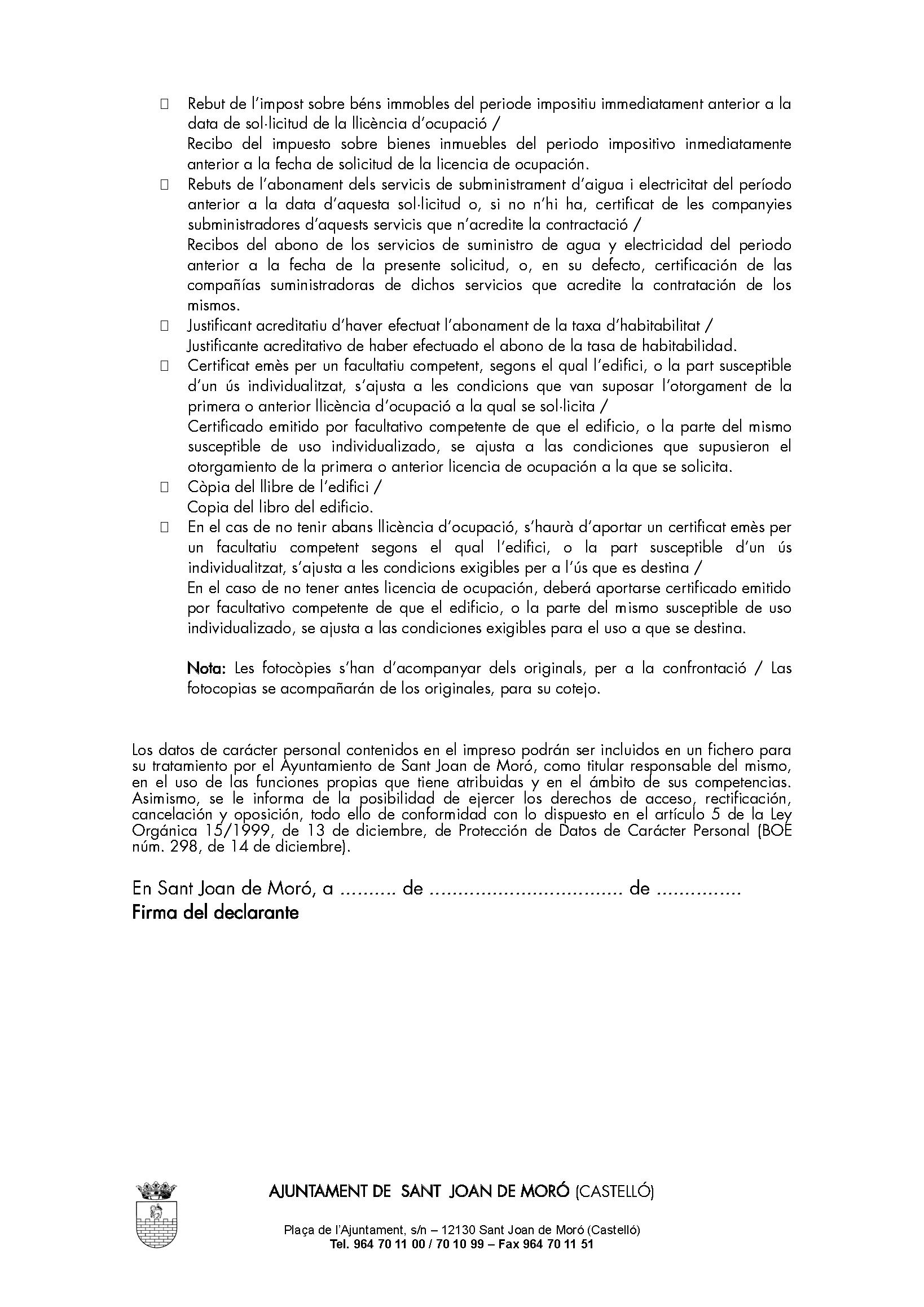 Impreso DECLARACIÓN RESPONSABLE SEGUNDA OCUPACION - San Joan de Moro_Página_2