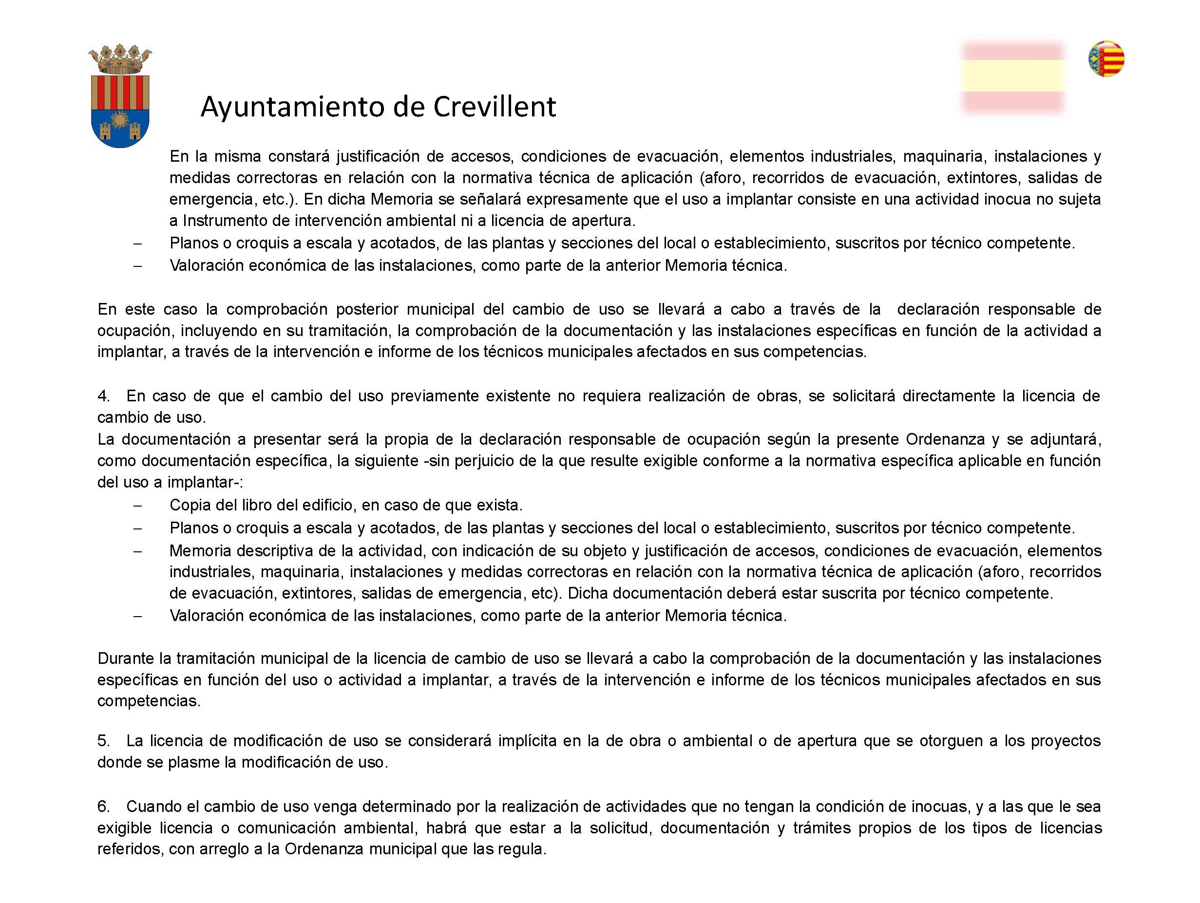 Impreso Declaración Responsable Segunda Ocupación Crevillente