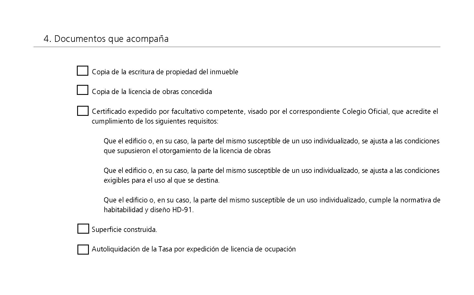 Impreso Declaración Responsable Segunda Ocupación Peñíscola