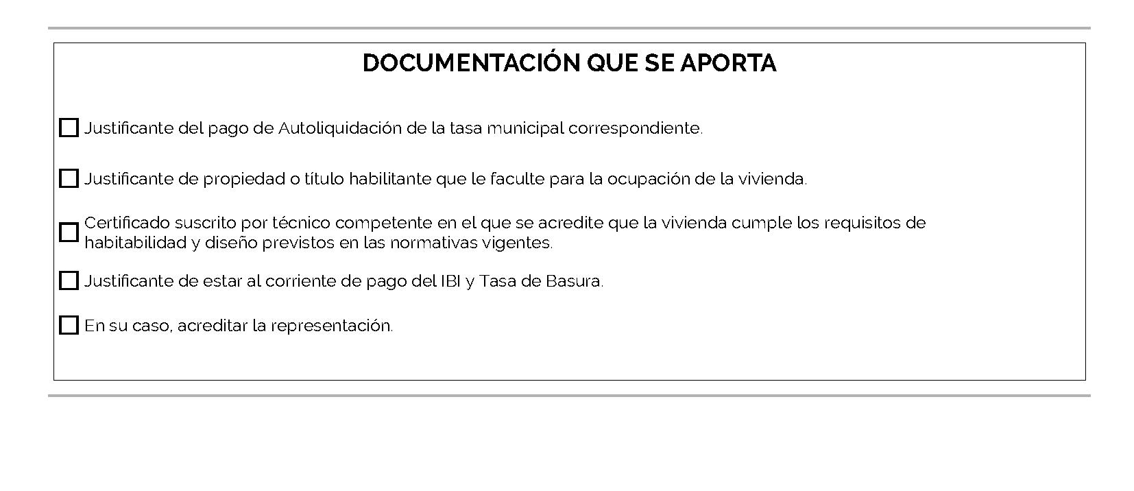 Impreso Declaración Responsable Segunda Ocupación Cullera