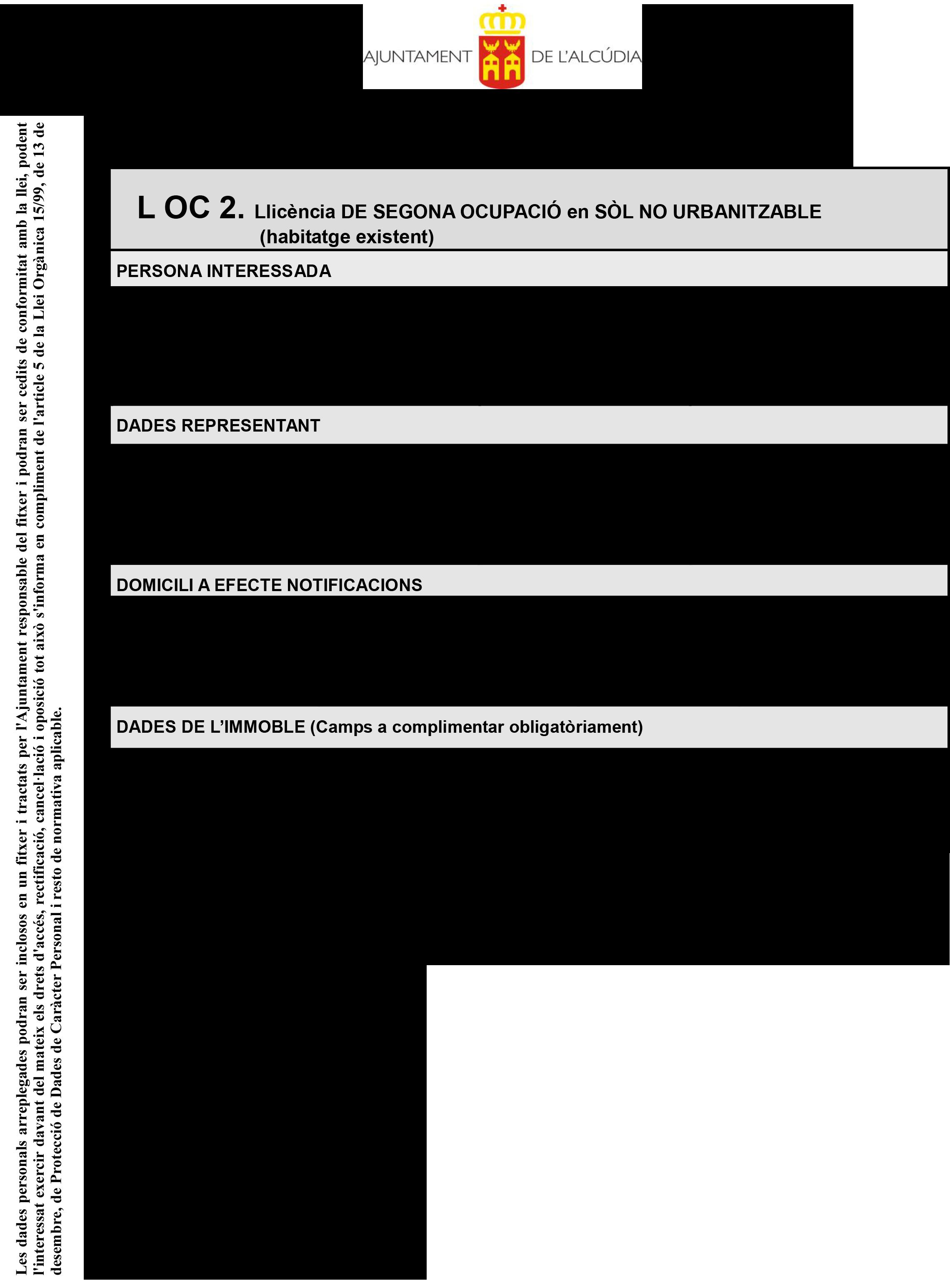 Impreso Declaración Responsable Segunda Ocupación - Alcadua 1