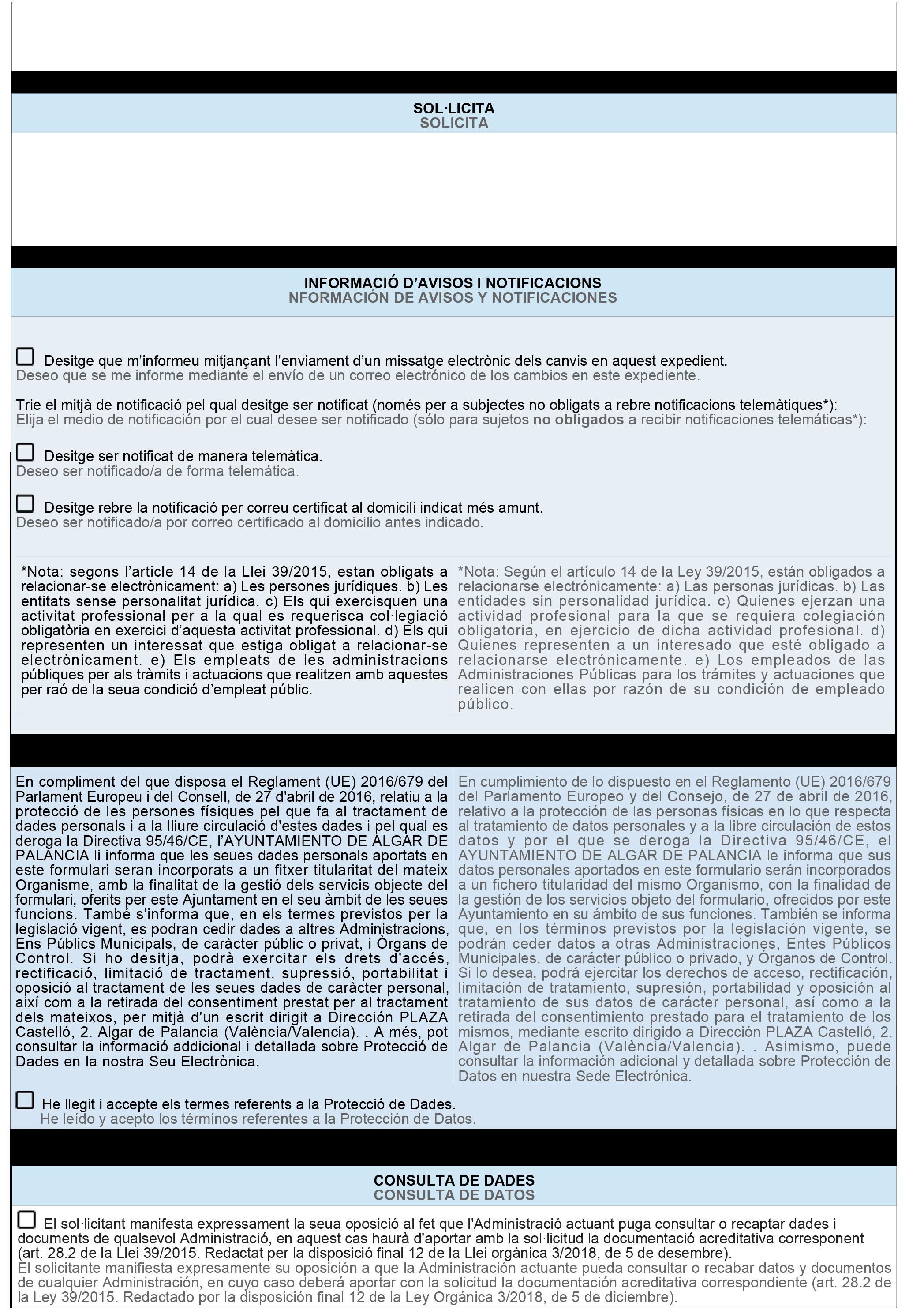Impreso Declaración Responsable Segunda Ocupación - Algar de Palancia 2