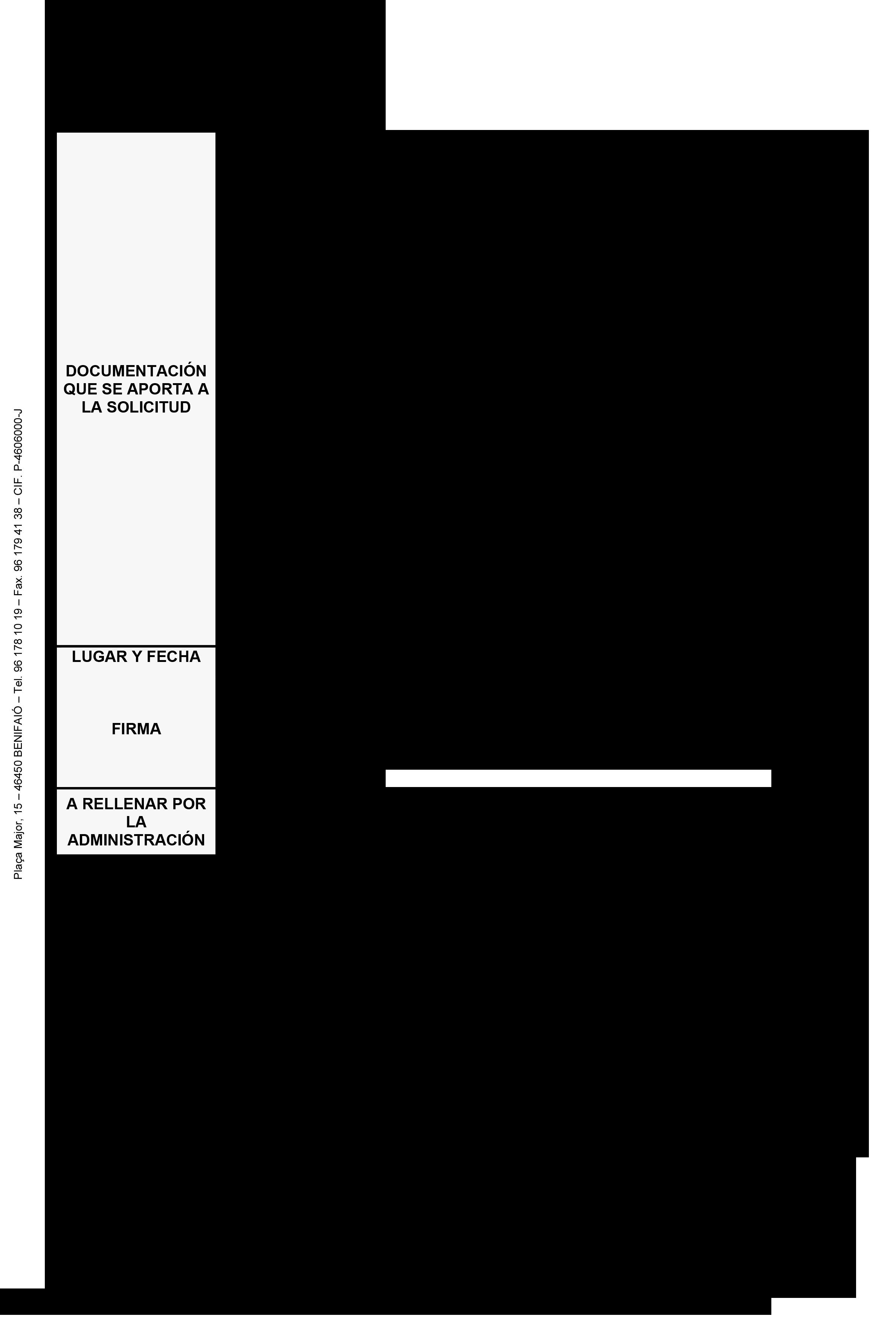 Impreso Declaración Responsable Segunda Ocupación - Benifaió 3