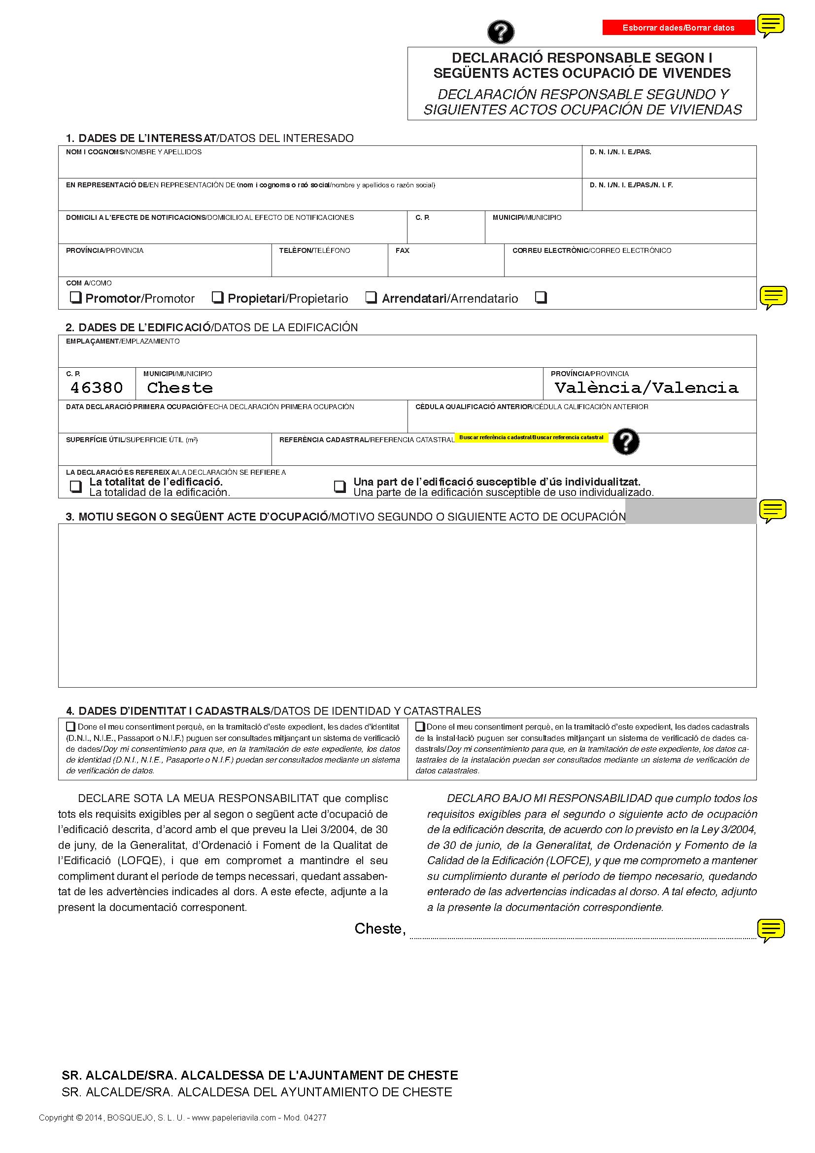 Impreso Declaración Responsable Segunda Ocupación Cheste_Página_1