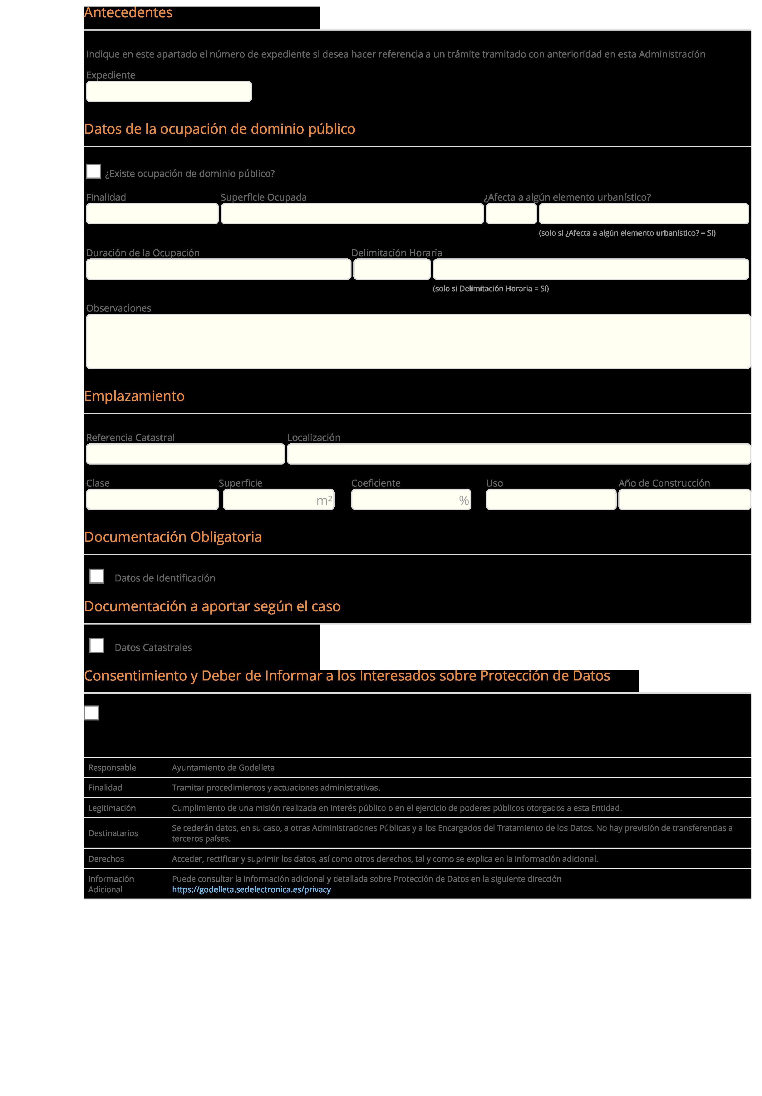 Impreso Declaración Responsable Segunda Ocupación - Godelleta 2