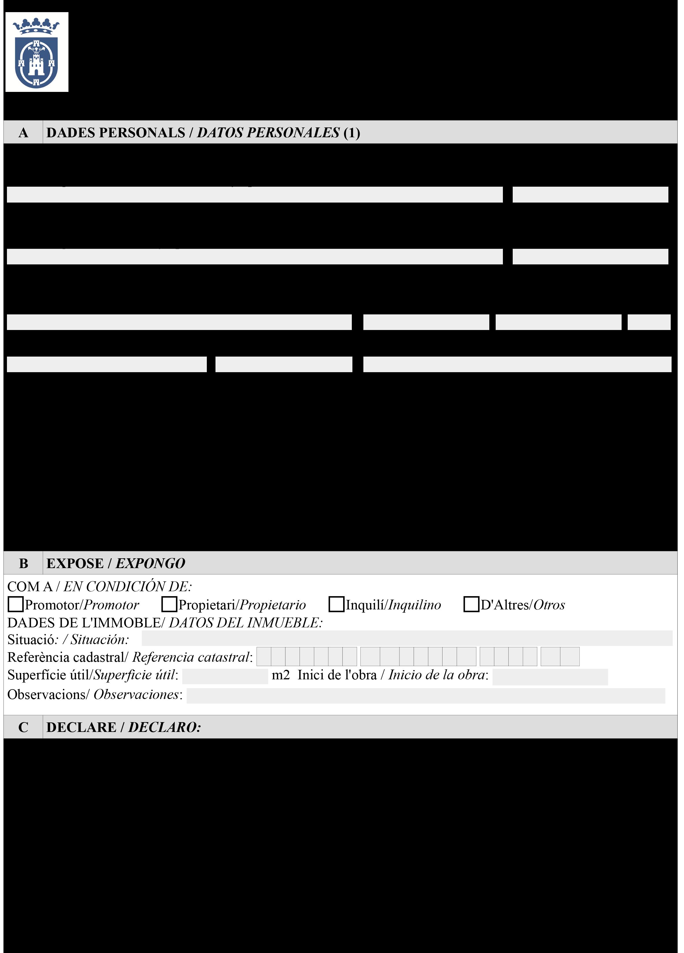 Impreso Declaración Responsable Segunda Ocupación - Llíria-1