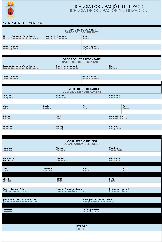 Impreso Declaración Responsable Segunda Ocupación - Montroi 1