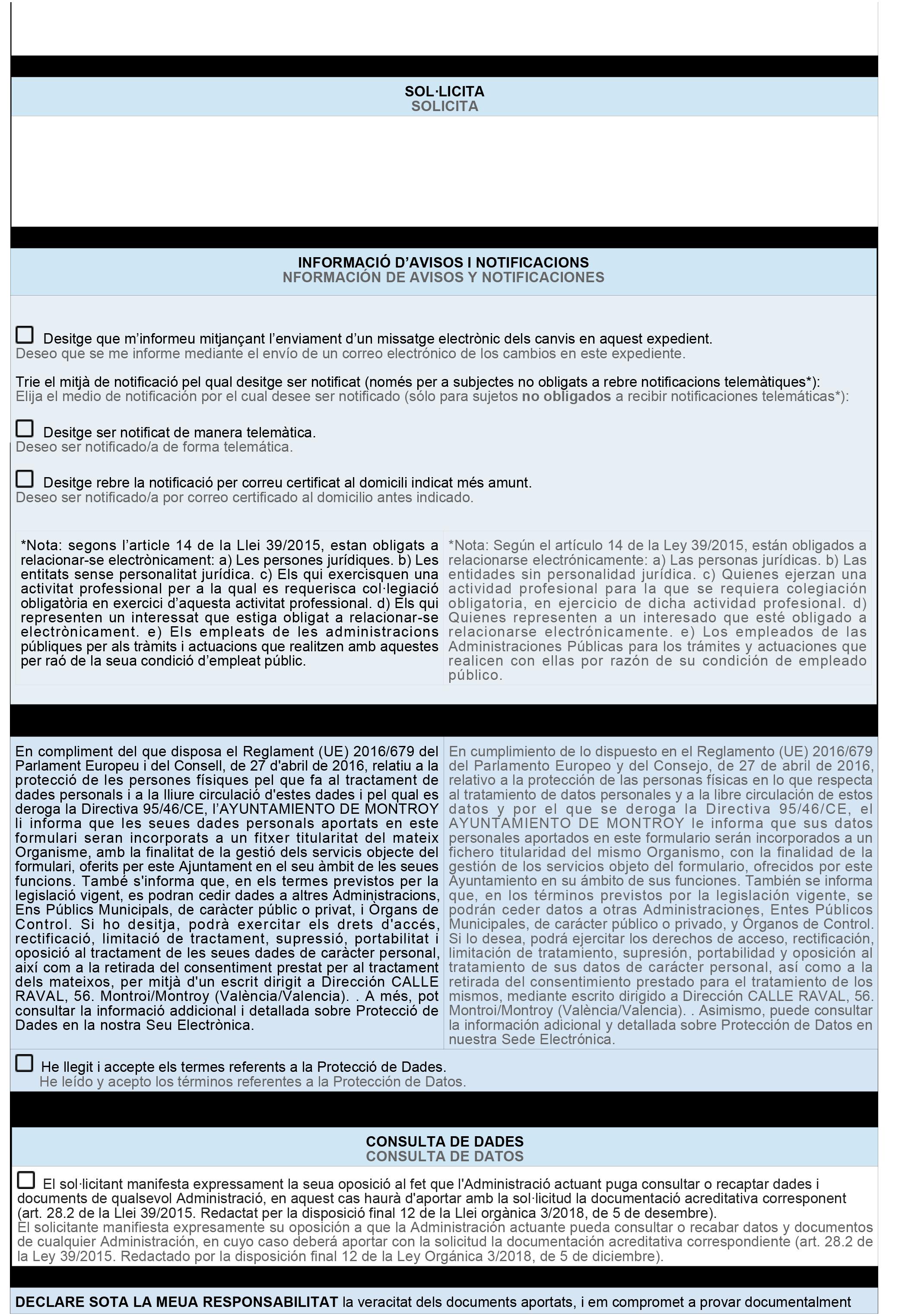 Impreso Declaración Responsable Segunda Ocupación - Montroi 2