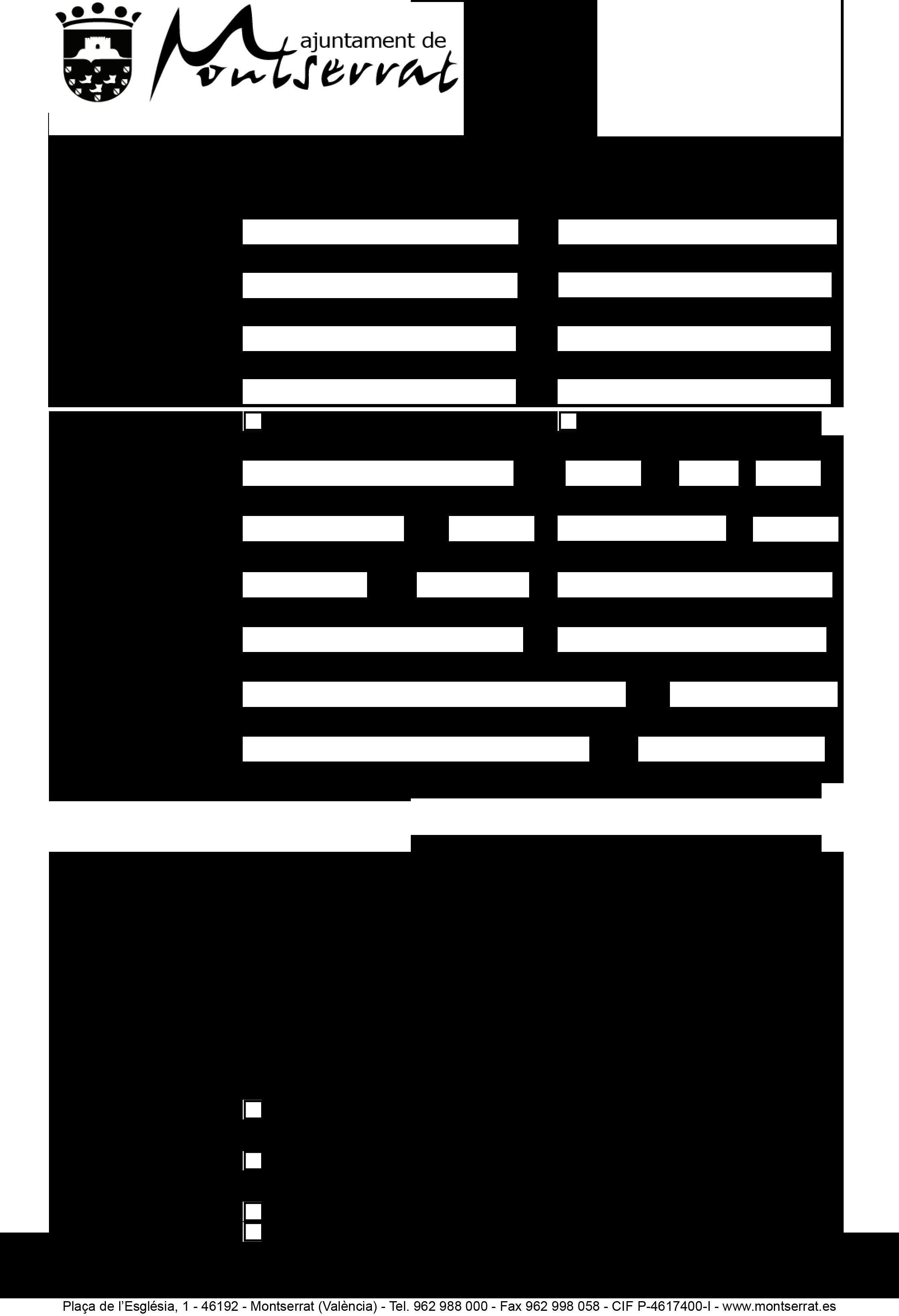 Impreso Declaración Responsable Segunda Ocupación - Montserrat-1