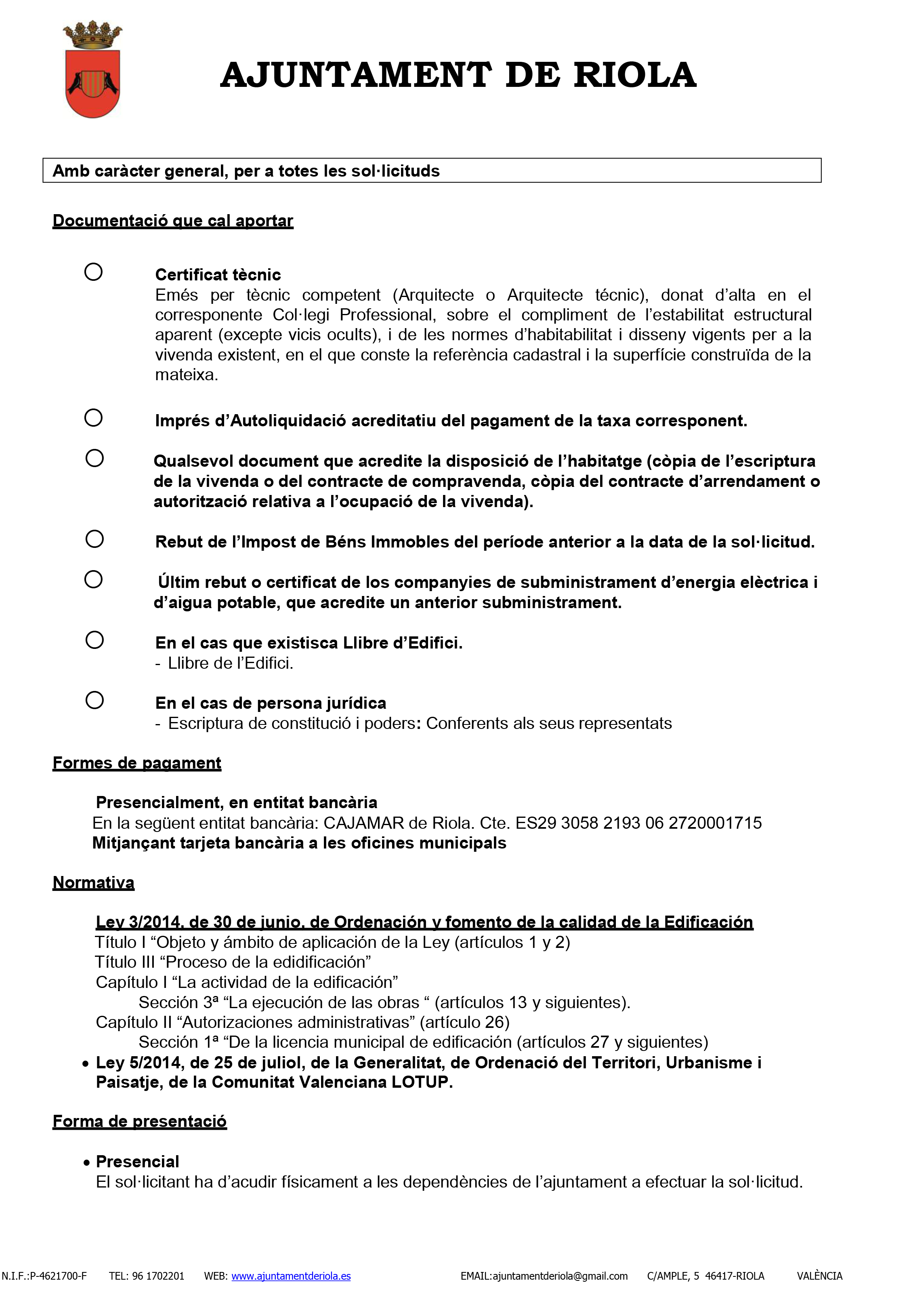 Impreso Declaración Responsable Segunda Ocupación - Riola-3