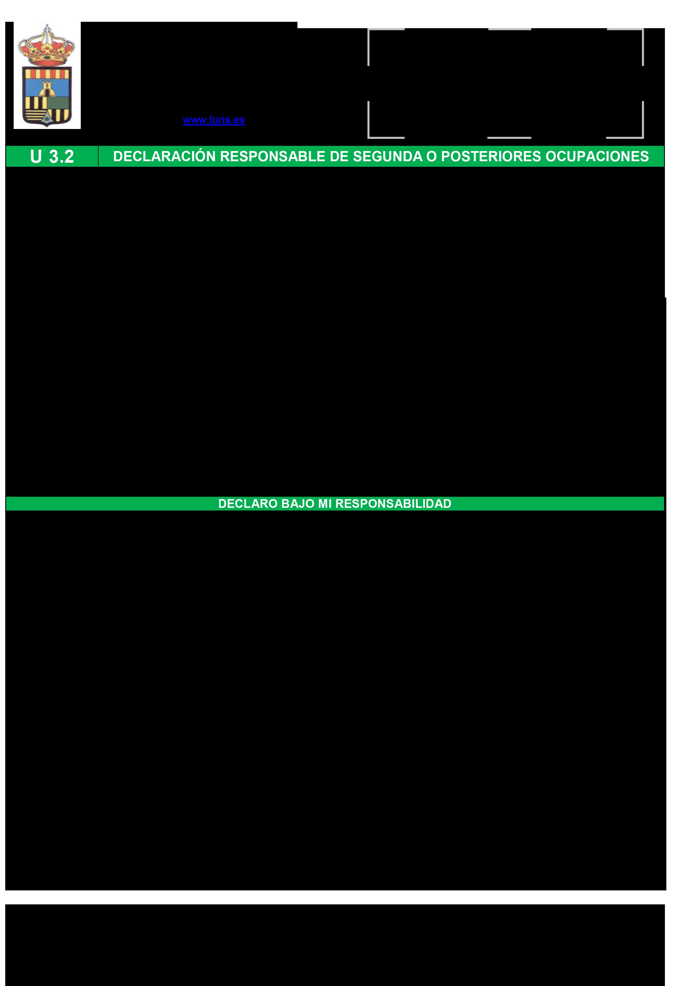 Impreso Declaración Responsable Segunda Ocupación - Turís-1