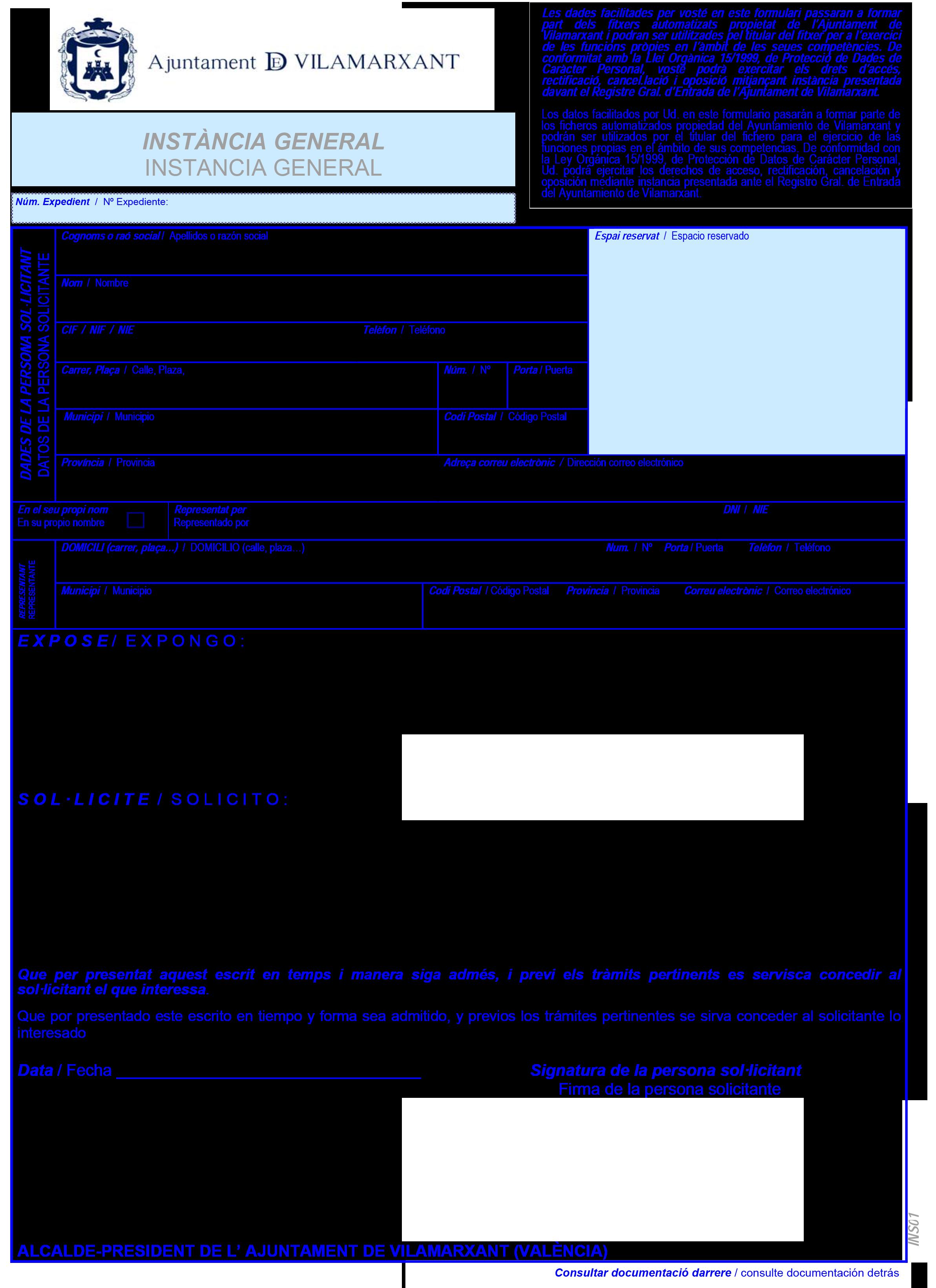 Impreso Declaración Responsable Segunda Ocupación - Vilamarxant-1