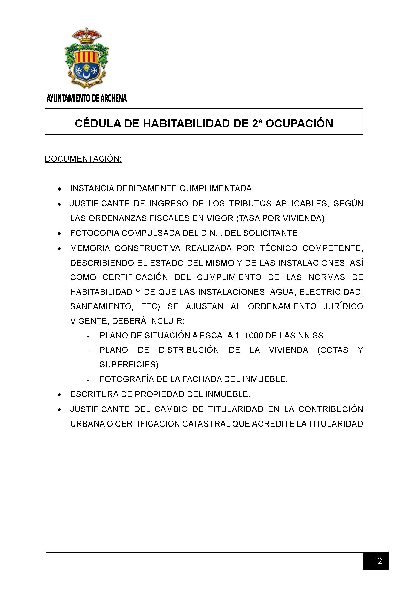 Impreso Declaración Responsable Segunda Ocupacion Archena 2 - Documentación