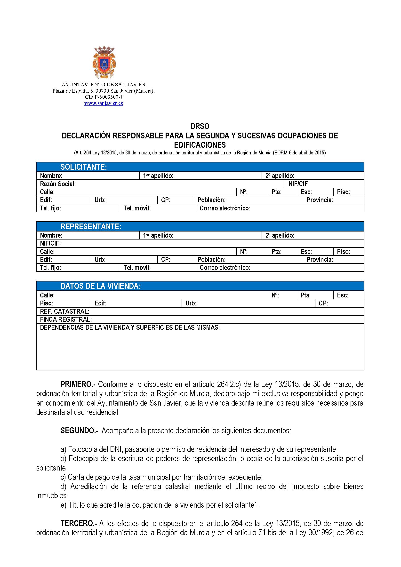 Impreso Declaración Responsable Segunda Ocupacion San Javier_Página_1