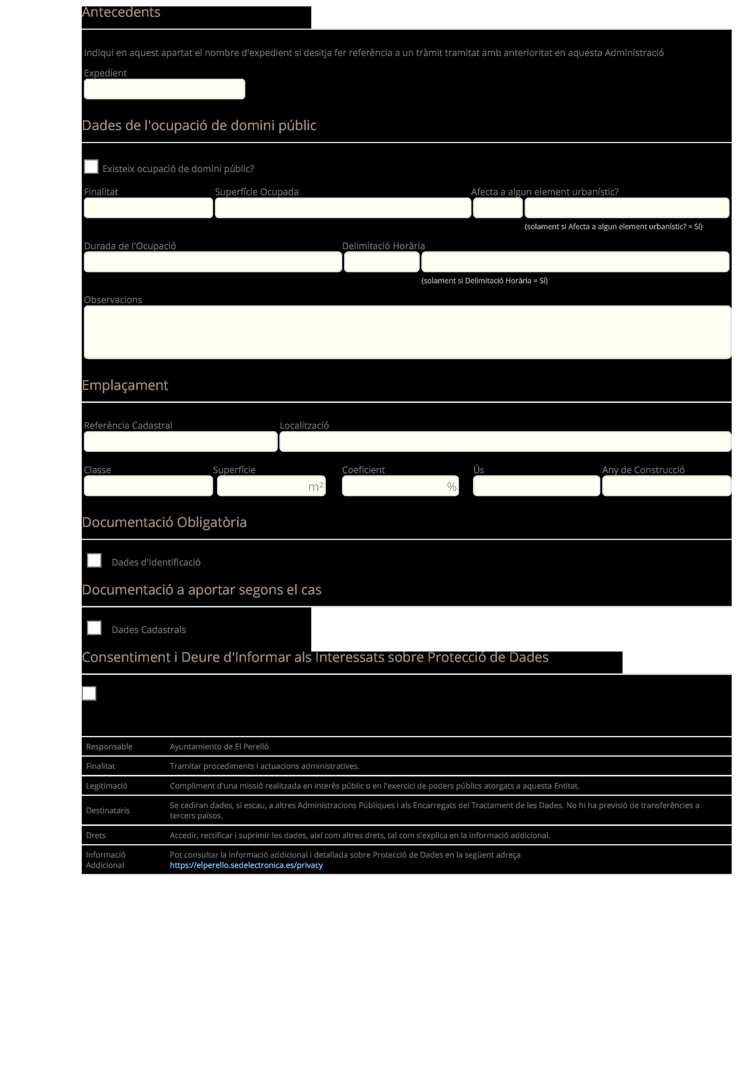 Sol·licitud de Llicència d'Ocupació - EL PERELLO-2