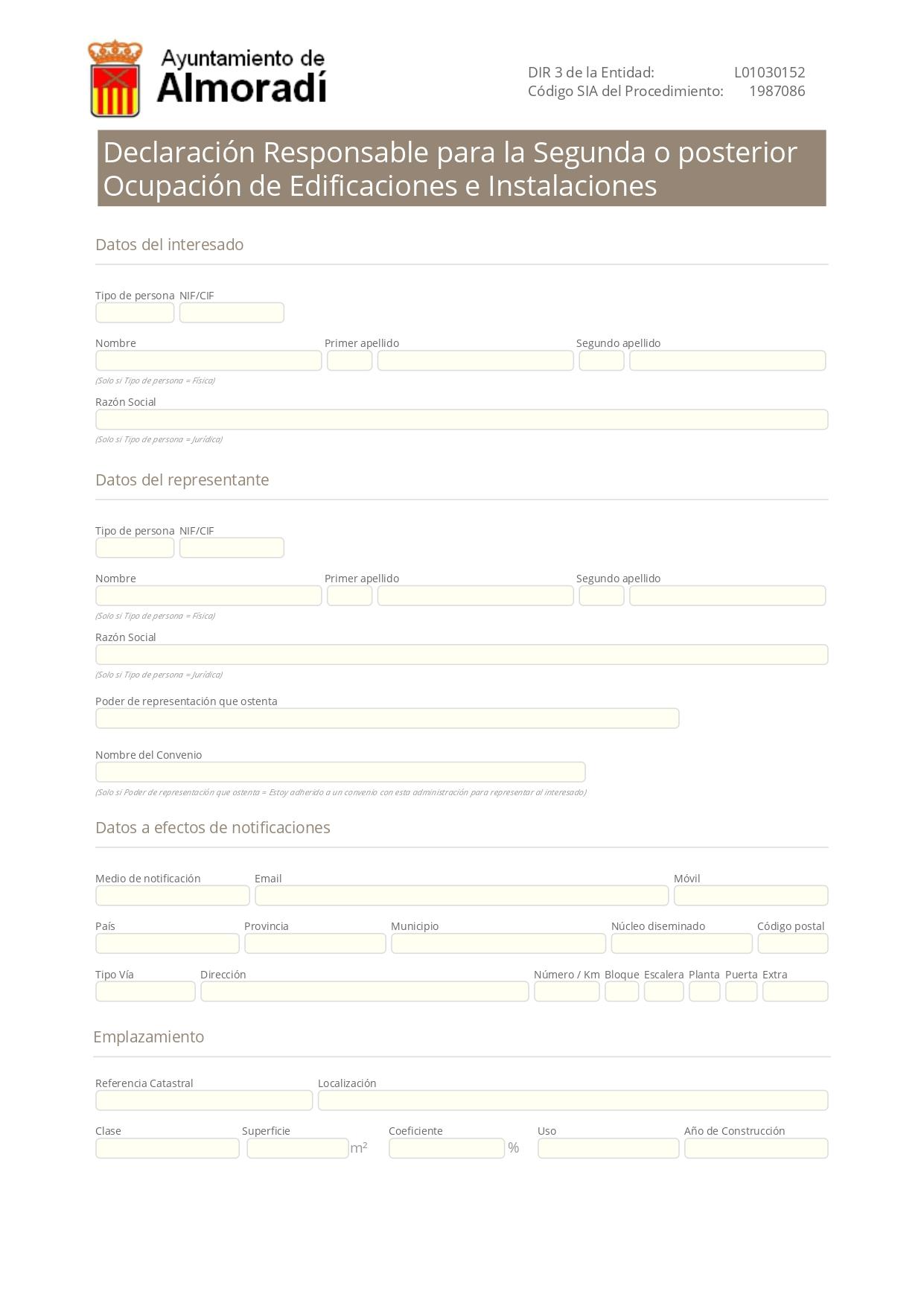 Declaración Responsable Segunda Ocupación Almoradí - Cédula de Habitabilidad Almoradí
